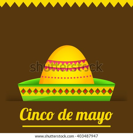 Vector illustration of cinco de mayo celebration background.