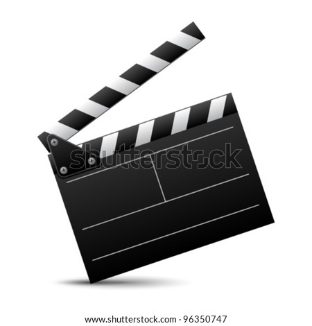 Vector illustration of cinema clap - stock vector