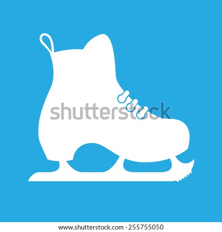 Vector illustration of classic ice skates - stock vector