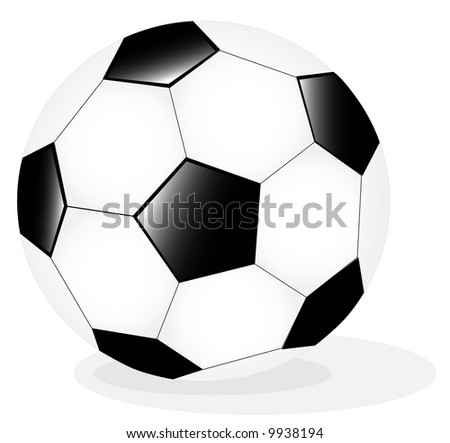 Vector Illustration of classic soccer ball - stock vector