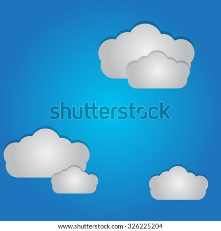 Vector illustration of Clouds Background