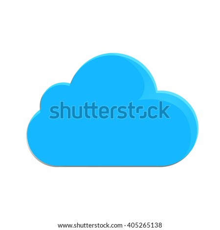 Vector illustration of clouds in blue on a white background. Design image vector flat clouds  - stock vector