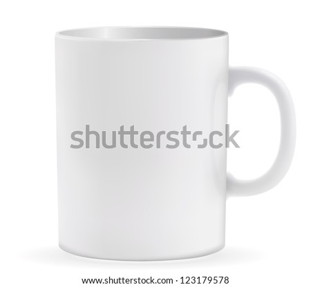 Vector illustration of coffee cup. EPS-10 - stock vector