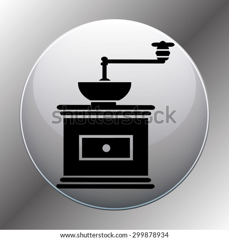 Vector illustration of coffee grinder - stock vector