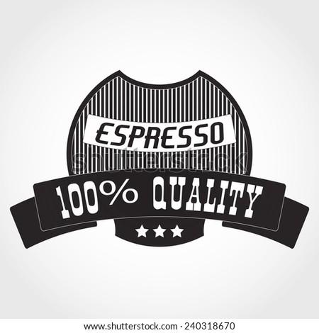 Vector Illustration of Coffee Logo for Design your Restauran?, Website, Background Banner. Label cafe Menu Template - stock vector