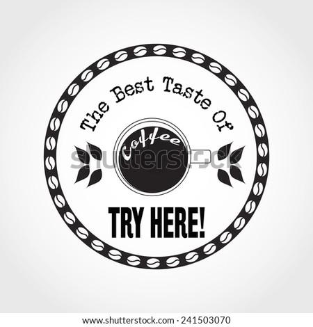 Vector Illustration of Coffee Logo for Design your Restaurant, Website, Background Banner. Label cafe Menu Template - stock vector