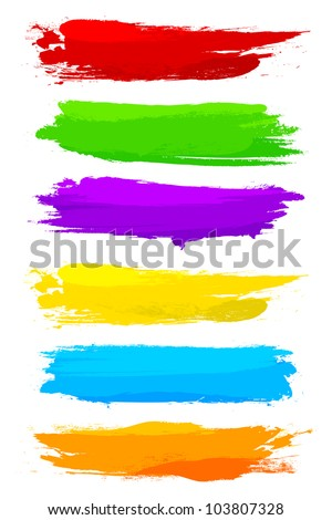 vector illustration of collection of colorful grungy banner