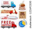 vector illustration of collection of Delivery and Shipping tag - stock vector