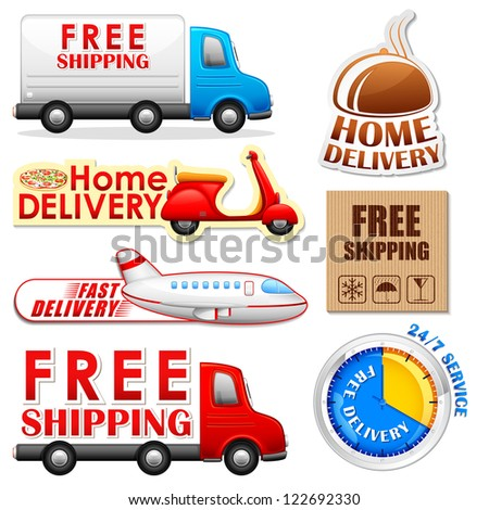 vector illustration of collection of Delivery and Shipping tag