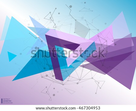 Vector illustration of color abstract geometric background