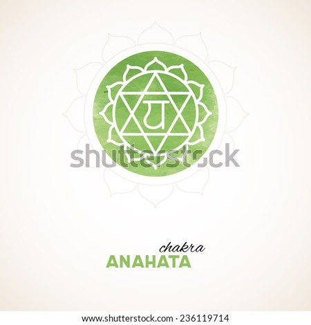 Vector illustration of Color chakra watercolor design - stock vector