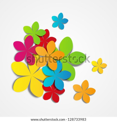 Vector illustration color paper flowers stock vector 128733983 vector illustration of color paper flowers mightylinksfo Gallery