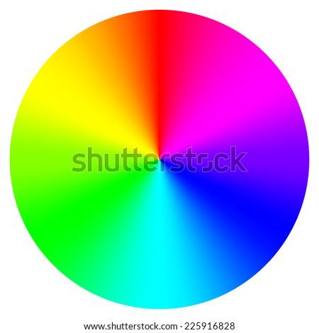 Vector illustration of color wheel - stock vector