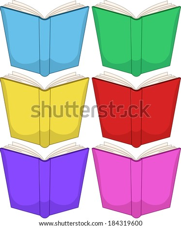 Vector illustration of colorful books pack.  - stock vector