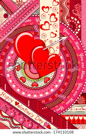 vector illustration of colorful Love Background - stock vector
