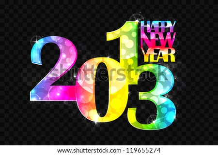 vector illustration of colorful new year wallpaper for 2013