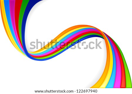 vector illustration of colorful swirly background - stock vector