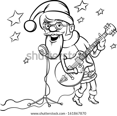 Rockn roll guitar pages coloring pages for Rock n roll coloring pages