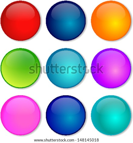 Vector illustration of coloured glossy and shiny network sphere icon.  - stock vector