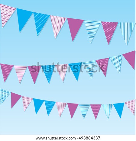 Vector illustration of colourful bunting flags