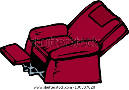 Vector illustration of comfortable chair