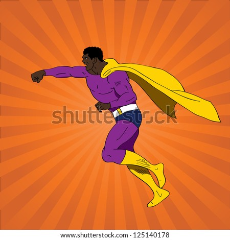 Vector illustration of comic book superhero - stock vector