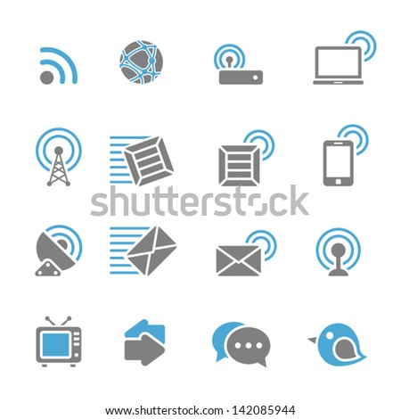 Vector illustration of communication icons. - stock vector