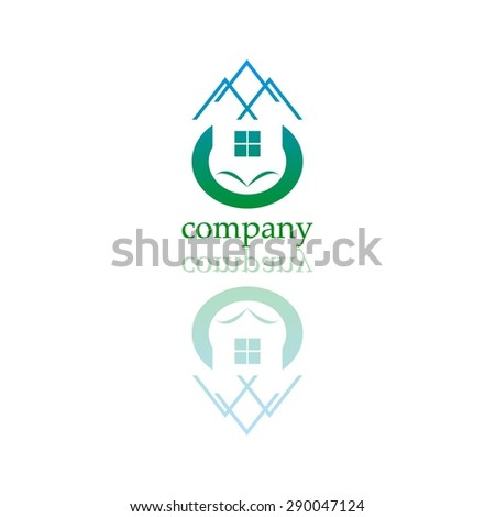 Vector illustration of Company. logo. Private property. Real estate.