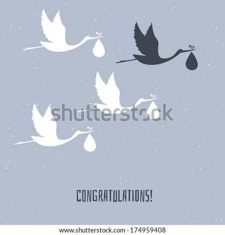 Vector illustration of Congratulation for you - stock vector