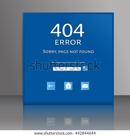Vector illustration of 404 connection error.  Sorry, page not found. vector. - stock vector