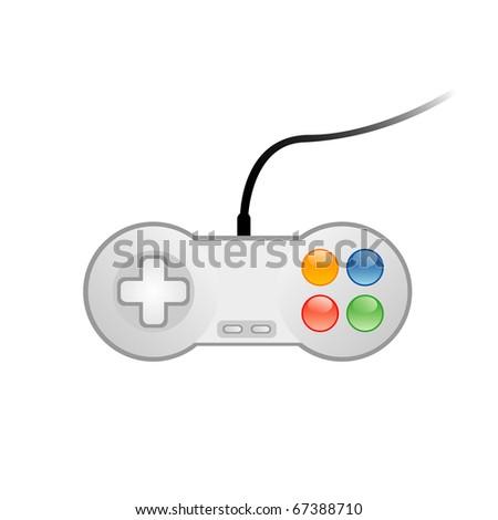 Vector illustration of console joystick - stock vector