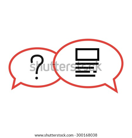 vector illustration of Conversation question icon - stock vector