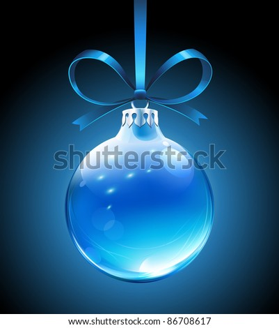 Vector illustration of cool blue Christmas decoration - stock vector
