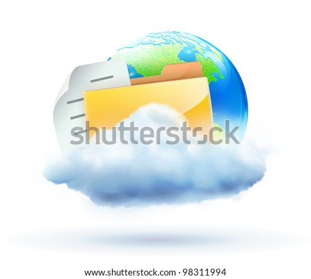 Vector illustration of cool global communication concept - stock vector