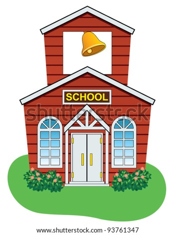 cute schoolhouse clipart. vector illustration of country school house cute schoolhouse clipart a