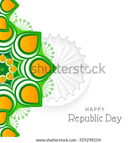Vector Illustration of Creative colourful background with Indian flag design for Indian Republic day.