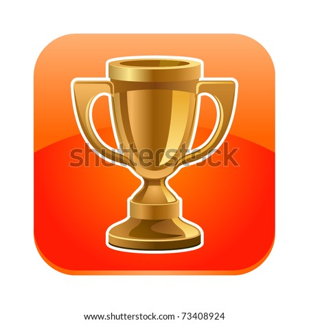 Vector illustration of cup icon - stock vector