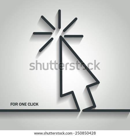Vector Illustration of Cursor Arrow Outline for Design, Website, Background, Banner. Logo Element Template for Buy Per Click - stock vector