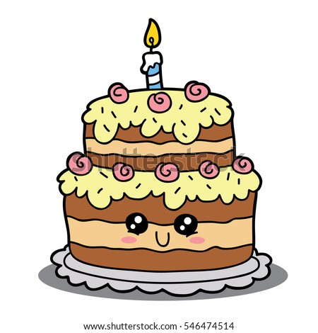 Cake Designs Cartoon : Cartoon Birthday Cake Vector Cartoon Illustration Stock ...
