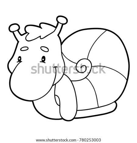 Vector Illustration Of Cute Cartoon Character For Children, Coloring Page