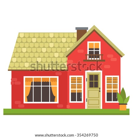 Colorful House vector illustration cute colorful house vector stock vector