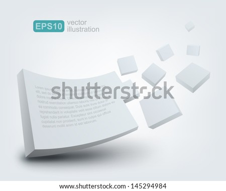 Vector illustration of 3d board - stock vector