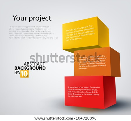 Vector illustration of 3d boxes - stock vector