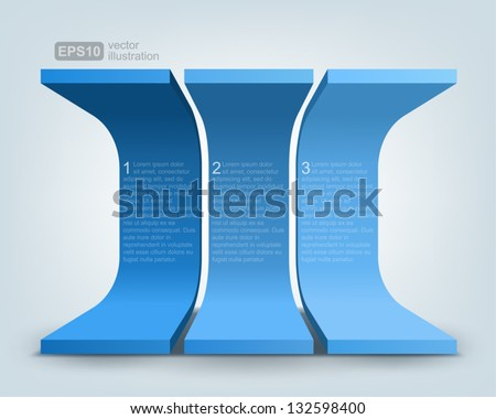 Vector illustration of 3d shapes, logo design - stock vector
