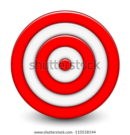 Vector illustration of 3d target - stock vector