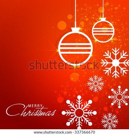 Vector Illustration of decorated Christmas background for Christmas.