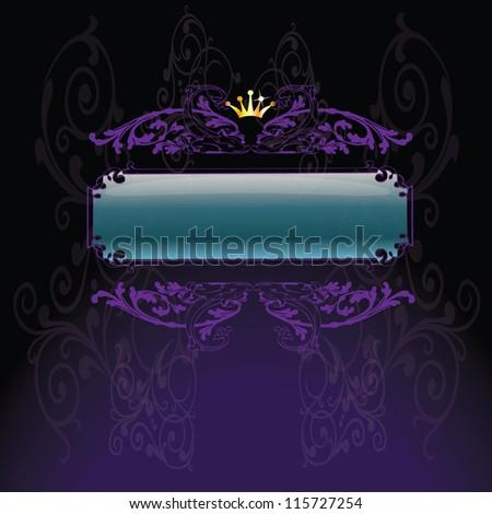 vector illustration of decorative vintage background - stock vector