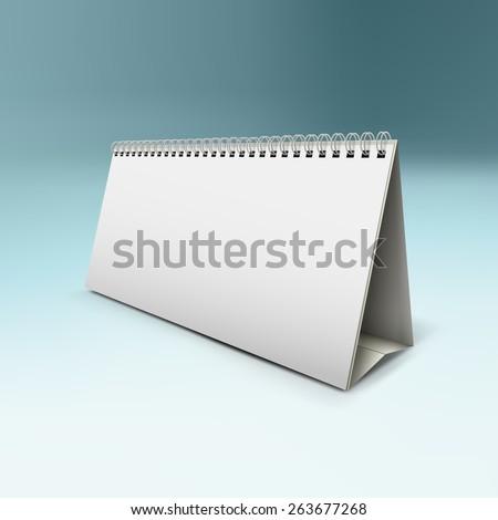 vector illustration of desk calendar mock-up - stock vector