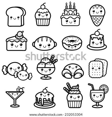 Vector Illustration Dessert Stock Vector 232053361 ...