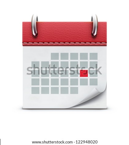 Vector illustration of detailed beautiful calendar icon - stock vector